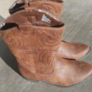 Arizona Jean Cowgirl Boots Kids Size 4M